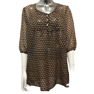 Maternity Tunic Top Brown Floral Thyme Maternity